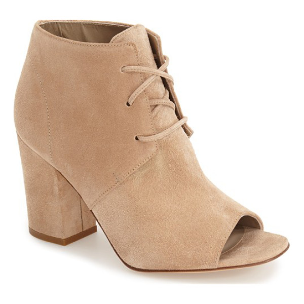 DELMAN anita peep toe bootie - This elevated take on a classic desert bootie features lush...