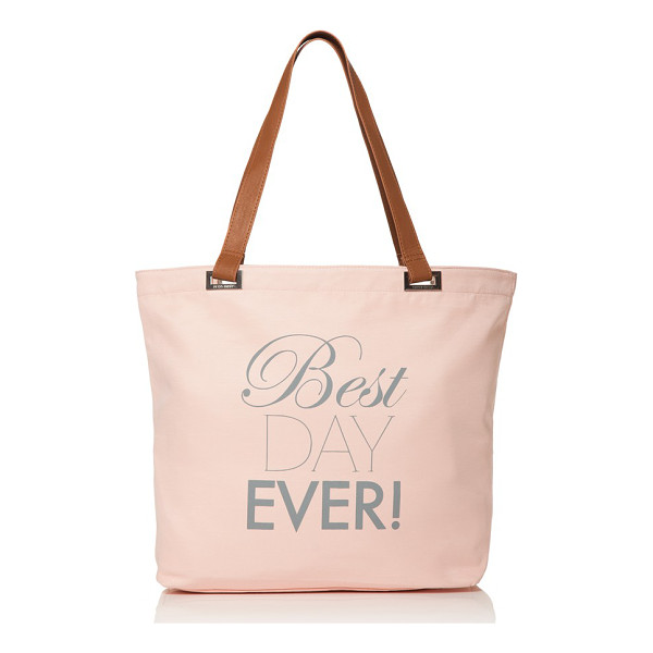 DESSY COLLECTION 'best day ever' tote - A perfect way to carry all your essentials, or a lovely way...