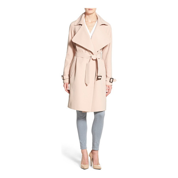 DIANE VON FURSTENBERG anouk soft twill long trench coat - A belted, wrap silhouette and soft twill fabrication relax...
