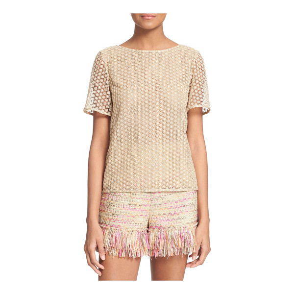 DIANE VON FURSTENBERG brylee guipure lace top - Crafted from softly lustrous guipure lace with a simple...