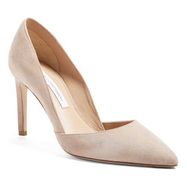 DIANE VON FURSTENBERG 'lille' d'orsay pump - A sculptural topline lends refined sophistication to a