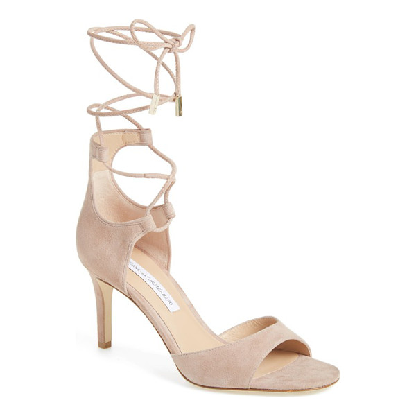 DIANE VON FURSTENBERG 'rimini' ankle wrap sandal - A sultry leather sandal lifted by a slender heel features