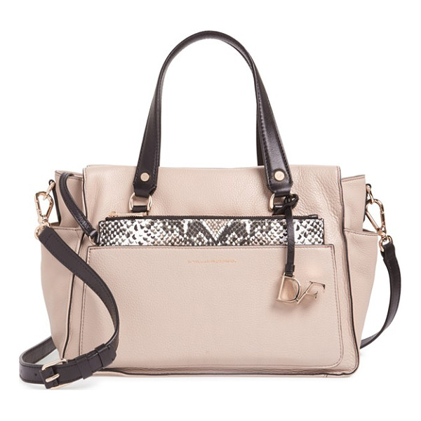 DIANE VON FURSTENBERG Voyage colorblock leather satchel - The woman who looks cool-headed and stylish, even when...