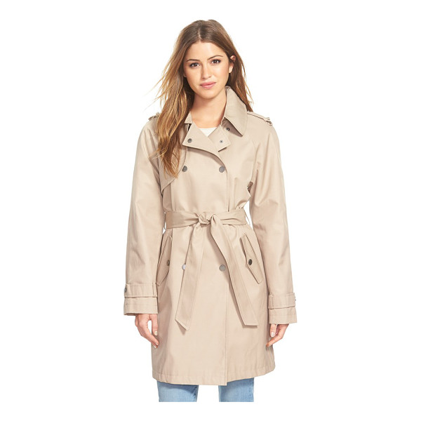 DKNY double breasted trench coat - Classic trench styling creates timeless appeal for a...
