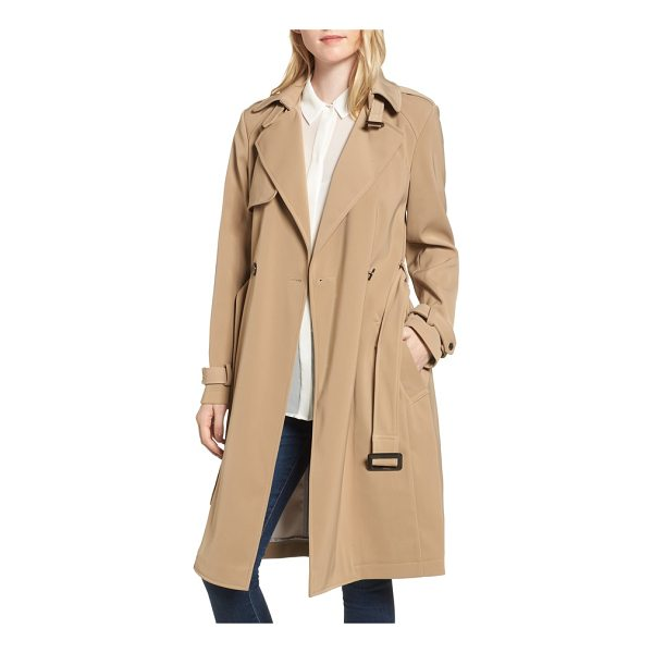 DONNA KARAN dkny french twill water resistant trench coat - The quintessential trench coat gets a reboot with...