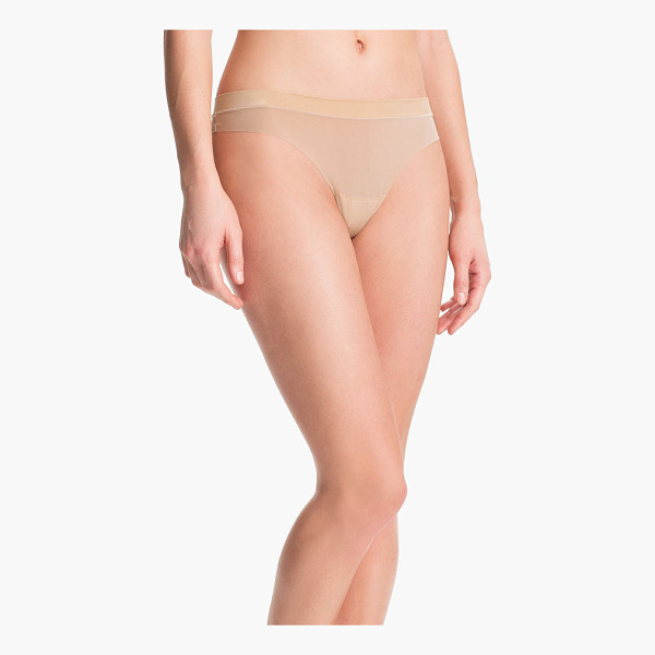 DKNY fusion thong - A smooth, banded waist offers a hint of textural contrast...