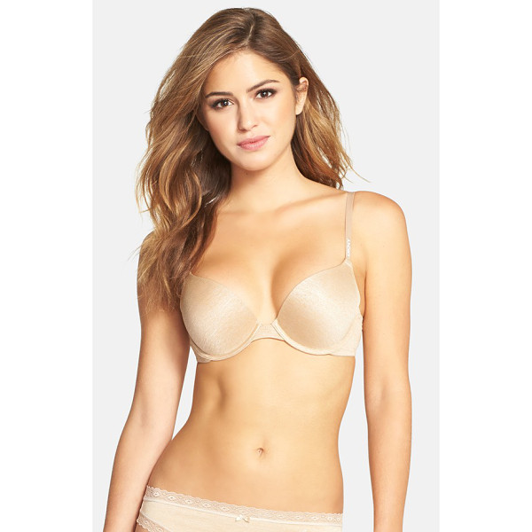 DKNY heathered underwire push-up bra - DKNY's best-selling push-up bra is updated with marled and...