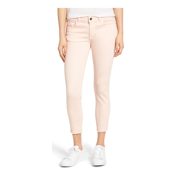 DL 1961 1961 florence instasculpt crop jeans - Cropped pants in a pastel hue are made from a stretchy...
