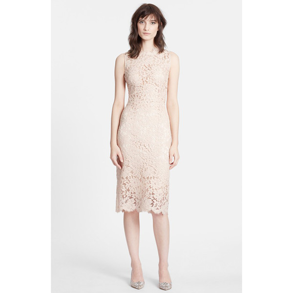 DOLCE & GABBANA sleeveless lace sheath dress - Romantic, timeless and simply elegant lace defines this...