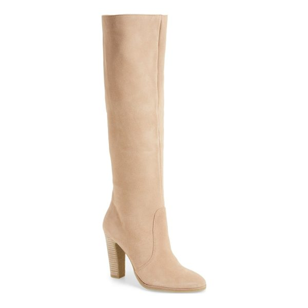DOLCE VITA celine knee-high boot - Touchably soft suede textures a wardrobe-staple knee-high...