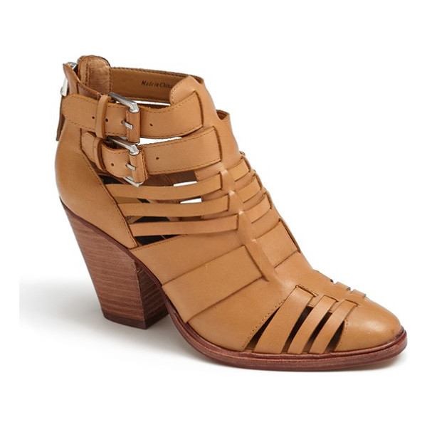 DOLCE VITA helsa bootie - A woven leather bootie with a sculpted stacked heel is...