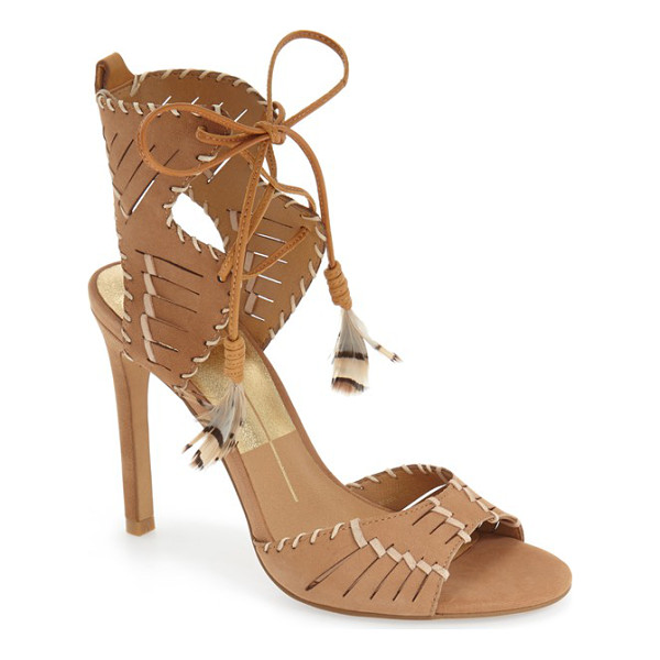 DOLCE VITA hunter woven feather sandal - Contrast whipstitching and woven details distinguish a...