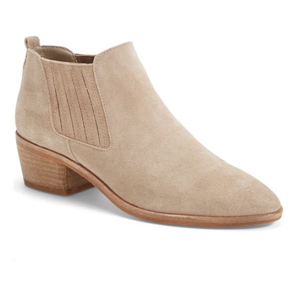 DOLCE VITA kadie bootie - A low, pull-on shaft and covered gores make this suede...