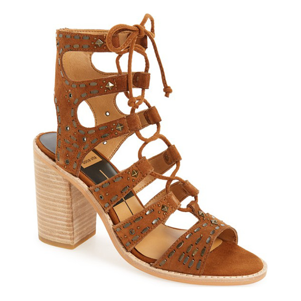 DOLCE VITA 'lyndie' embellished sandal - Ghillie lacing and suede cage straps embellished with...
