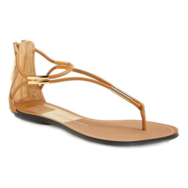 DOLCE VITA marnie flat sandal - Metallic hardware gleams at the toe and ankle of an...
