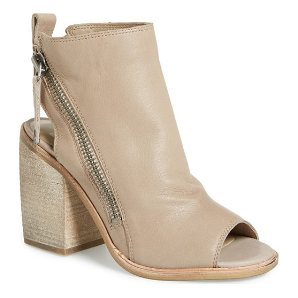 DOLCE VITA port open toe bootie - A bold column heel and open heel pair with asymmetrical...