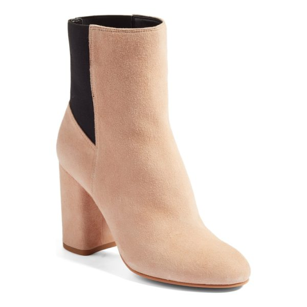 DOLCE VITA ramona double gore bootie - Stretchy elastic-gore paneling streamlines the look of this...