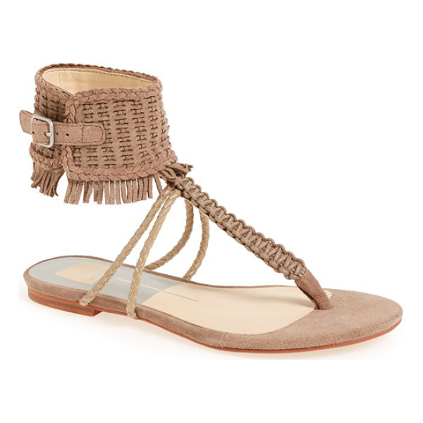 DOLCE VITA regan fringe ankle cuff sandal - A fringe-trimmed ankle cuff furthers the boho appeal of a...