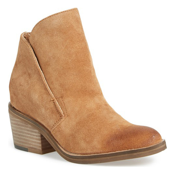 DOLCE VITA teague bootie - A clean-lined profile and lightly distressed leather extend...
