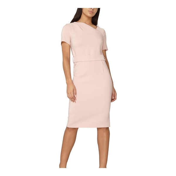 DOROTHY PERKINS asymmetrical pencil dress - An asymmetrical neckline and curved seams add a dash of...