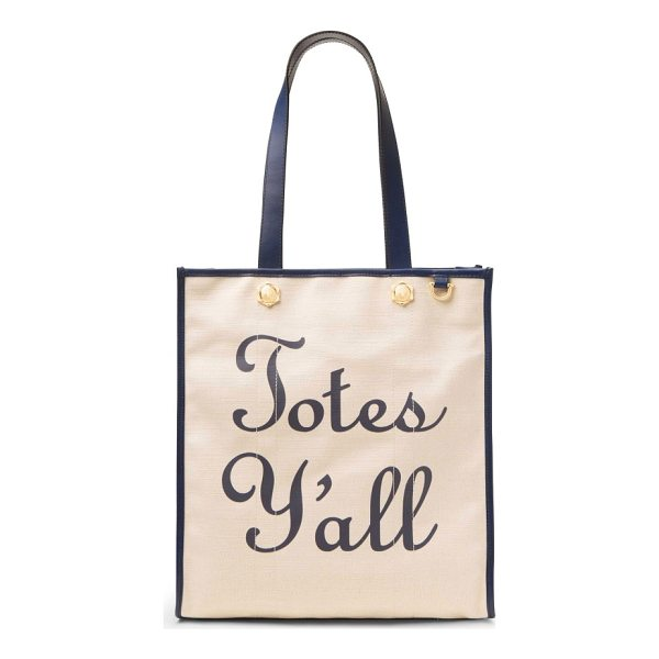 DRAPER JAMES totes y'all canvas tote - Sunny, Southern charm extends to your accessories with this...