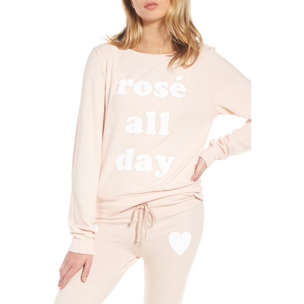 DREAM SCENE rose all day sweatshirt - Why wait till 5:00 to break out the rose when you've got...