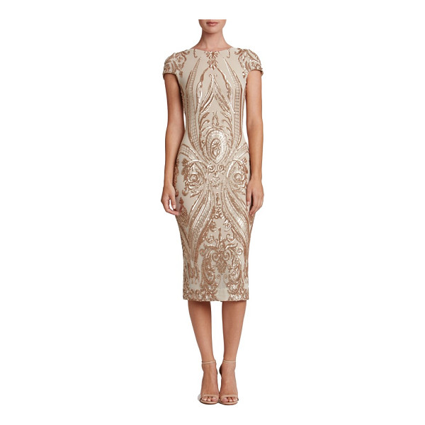 DRESS THE POPULATION brandi sequin body-con dress - Densely sewn sequins paint ornate patterns over this...