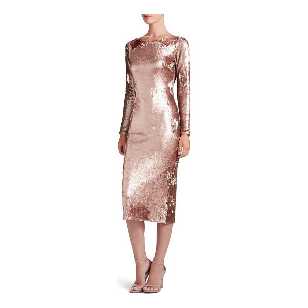 DRESS THE POPULATION emery scoop back reversible sequin body-con dress - No matter which way the sequins lie, the effect is always...