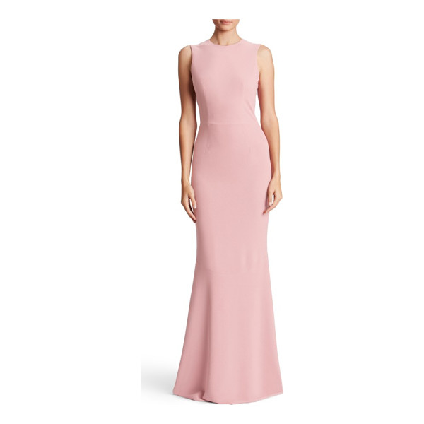 DRESS THE POPULATION eve crepe mermaid gown - A structured bodice makes a sophisticated start on a crepe...