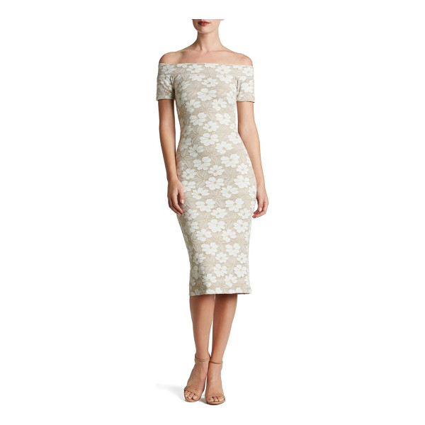 DRESS THE POPULATION jemma midi dress - The texture and romance of lace flatters this super-sultry...