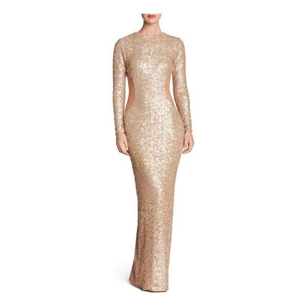 DRESS THE POPULATION lara body-con gown - Highlight every curve with a scintillating, second-skin...