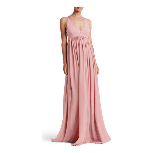 DRESS THE POPULATION phoebe chiffon gown - Take on wedding photos, ceremony and reception in...