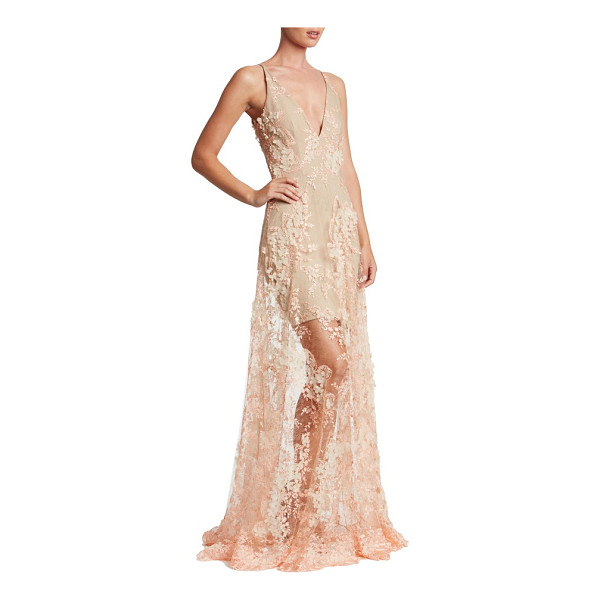 DRESS THE POPULATION sidney lace gown - Intensely romantic and dramatic in luscious floral lace...