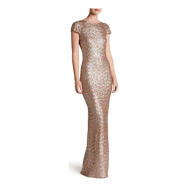 DRESS THE POPULATION teresa body-con gown - Highlight every curve in the scintillating shine of...