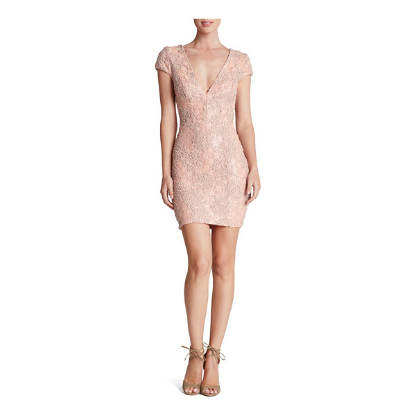 DRESS THE POPULATION zoe embellished mesh body-con dress - Designed to hug and highlight curves, this flirty decollete...
