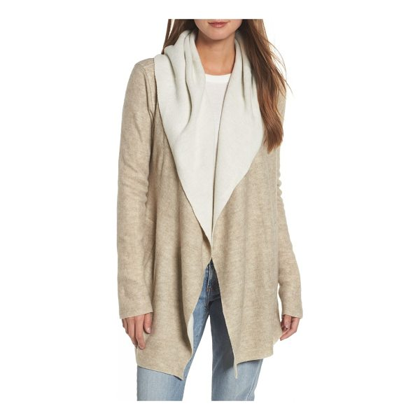 DYLAN hooded sweater cardigan - Soft, drapey fleece adds cozy warmth to a comfy hooded...