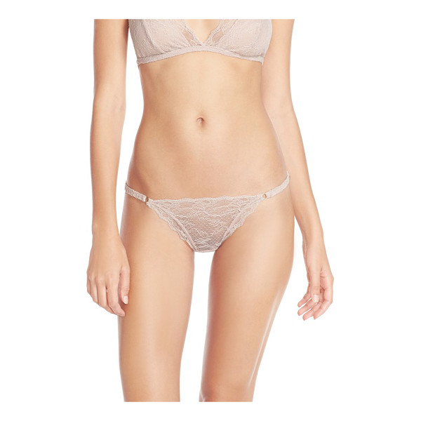 EBERJEY georgette lace low rise thong - String-bikini style and scalloped lace enable this daringly...