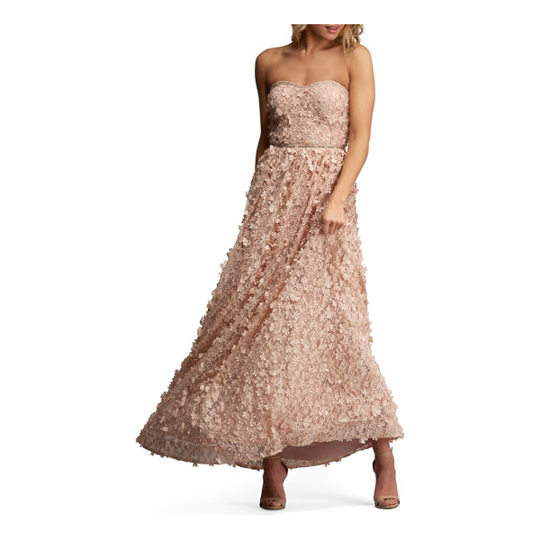 ECI embellished gown - Make it an evening to remember in a strapless gown abloom...