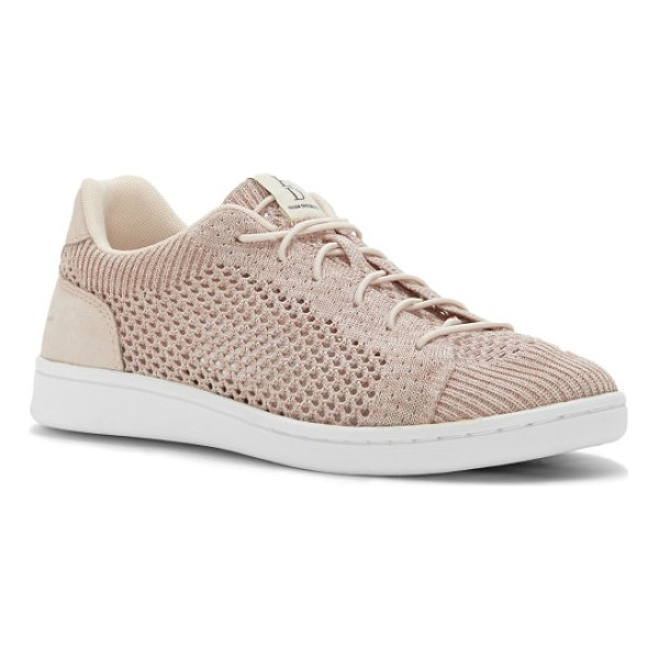 ED ELLEN DEGENERES casie knit sneaker - Smooth leather trims a sporty, breathable mesh-knit sneaker...
