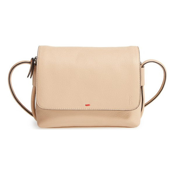 ED ELLEN DEGENERES small monterey leather crossbody bag - The zip pull is embossed with one of ED's guiding