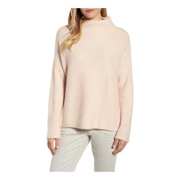 EILEEN FISHER 'boucle bliss' cashmere & silk blend funnel neck sweater - A blissfully soft cashmere blend brings snuggle-worthy...
