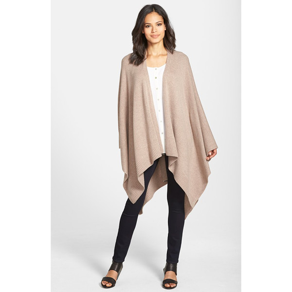 EILEEN FISHER cozy wool poncho - Wrap yourself in cozy warmth and effortless flair with a...