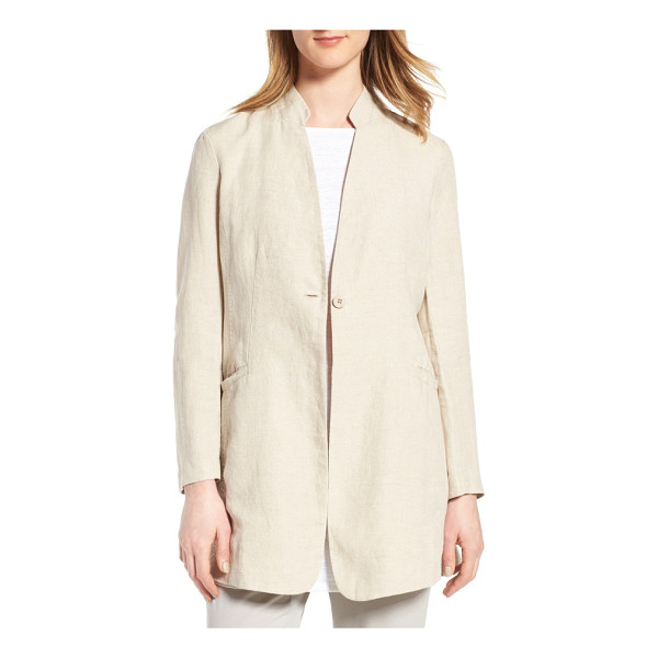 EILEEN FISHER organic linen jacket - An effortless yet polished finish to any spring look, a...