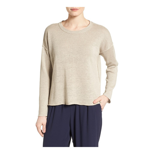 EILEEN FISHER organic linen sweater - This spring sweater wins in every way: fantastic colors, a...