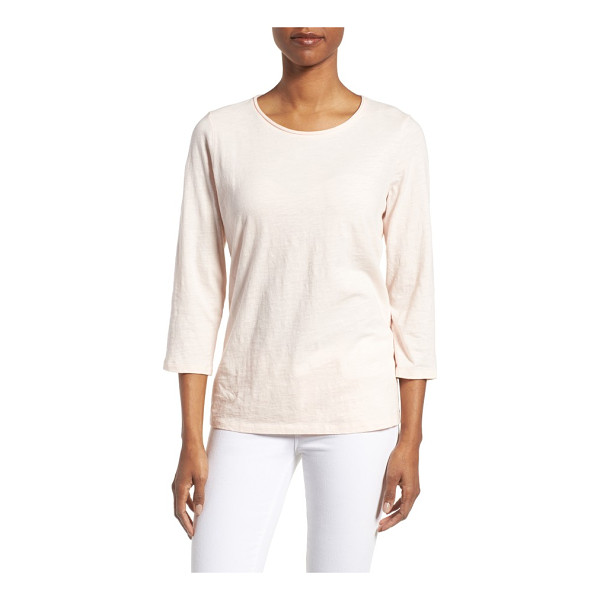 EILEEN FISHER slubby organic cotton jersey top - Knowing the soft fabric is sustainably produced amps up the...