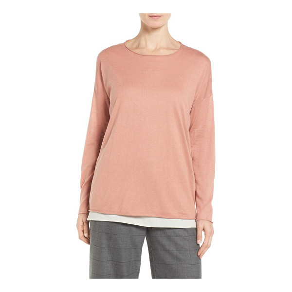 EILEEN FISHER tencel & organic cotton blend sweater - Available in a stylish array of colors, a slouchy...