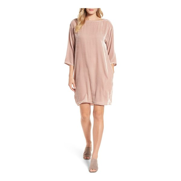 EILEEN FISHER velvet shift dress - No need to dread the holiday-party season when you can...