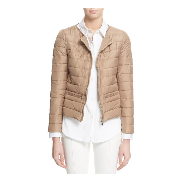 ELEVENTY collarless puffer jacket - Clean, collarless styling lends timeless appeal to a...