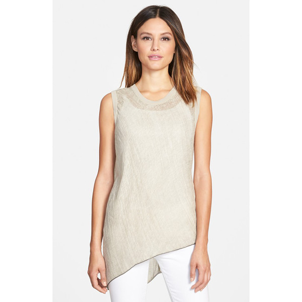 ELIE TAHARI savannah linen blouse - Pure linen brings earthy texture and airy lightness to a...