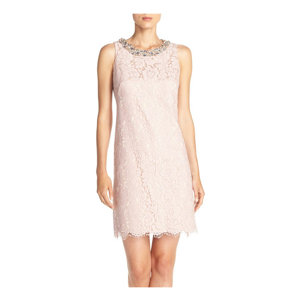 ELIZA J embellished a-line dress - Imitation pearls and sparkly jewels brighten the face in...